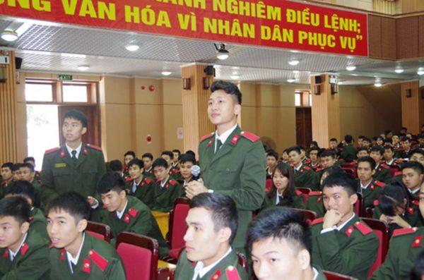 Các học viên của học viện An Ninh Nhân Dân