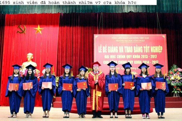 Tân cử nhân của Trường ĐH Công Đoàn